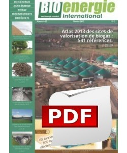 Bioénergie International - Numéro 23 - PDF