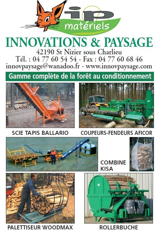 Innovations & paysage : combinés bois de chauffage, palettiseurs