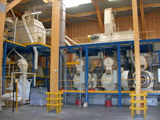 Presses à granulés Promill de EO2, photo Frédéric Douard