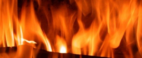 Flammes de bois-bûches, photo Frédéric Douard