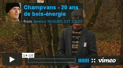 Champvans dans le Jura, commune pionnière du chauffage automatique au bois