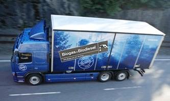 Volvo Trucks a presenté un nouveau moteur biogaz-biodiesel à Francfort