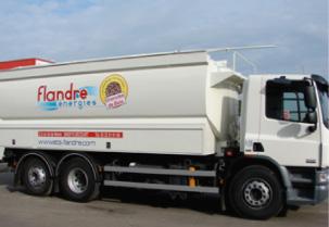 Le camion souffleur de granulés Transmanut des Ets Flandre