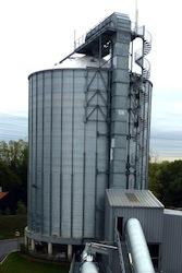 Le silo de 4000 m3, photo Frédéric Douard