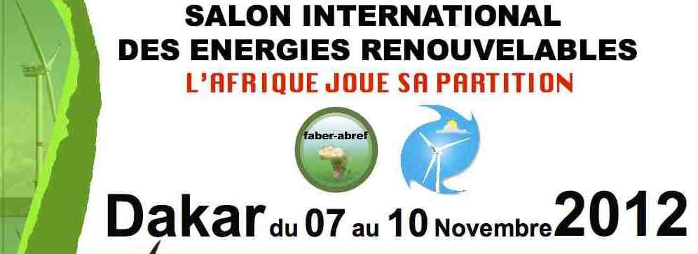 7 10 nov 2012 dakar salon international des energies for Salon 7 places dakar