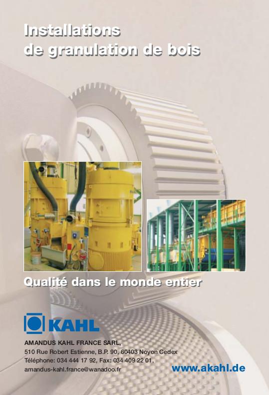 Installations de granulation à filières plates Amandus Kahl