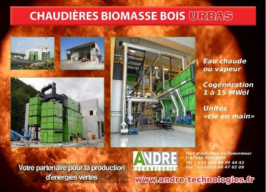Chaudières biomasse bois URBAS par André Technologies