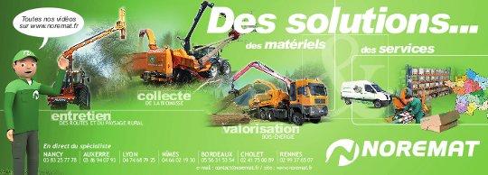 Noremat, solutions pour l'entretien, la collecte et la valorisation de la biomasse