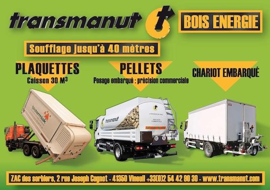 Camions souffleurs de granulé, plaquette, chariots embarqués Transmanut