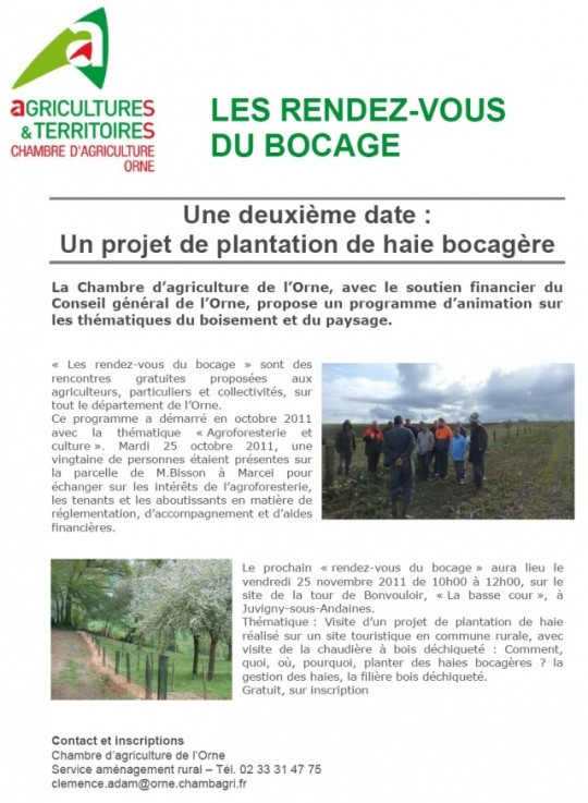 25 nov 2011 valorisation nerg tique d une haie bocag re - Chambre agriculture orne ...
