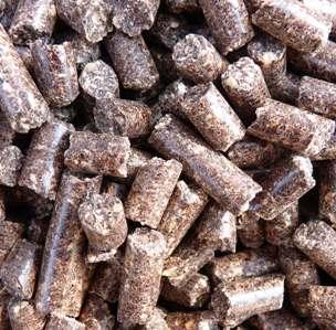 Granulés de sous-produits agricoles, photo Frédéric Douard