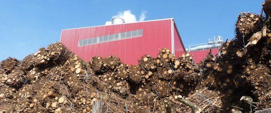 Centrale de cogénération alimentée en fagots de rémanents forestiers, photo Frédéric Douard