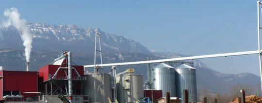 Usine de granulation Alpes Energie Bois, photo Frédéric Douard
