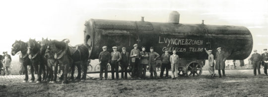 Chaudière Vyncke au début du vingtième siècle, photo Vyncke - Cliquer sur l'image pour l'agrandir.