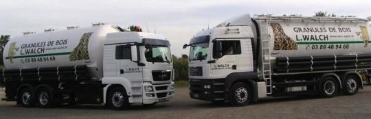 Camions pompe à granulés Tropper des Ets Walch, photo Tropper GmbH