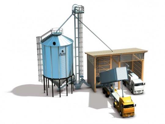 Schéma de principe d'une installation de stockage relais, image Agriconsult