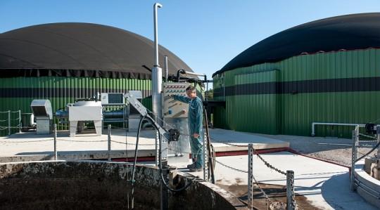 Station de méthanisation de l'élevage porcin de Joel Laverdet à Mayrac dans le Lot, photo JL Exposito