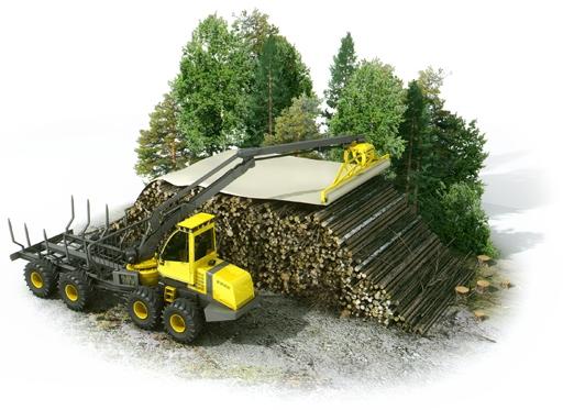 couvrir les tas de biomasse en forêt pour améliorer leur qualité