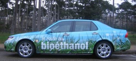 Véhicule ethanol, photo Saab