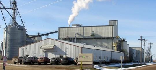 L'usine d'éthanol cellulosqiue Poet de Scotland dans le Dakota du sud