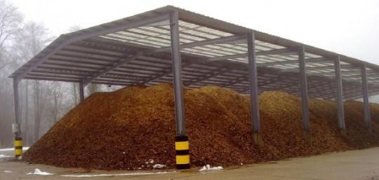 Hangar à bois-énergie en PACA