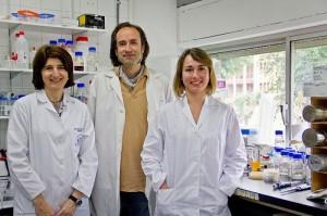 Encarnación Mellado, de la Faculté de Pharmacie avec David Cánovas et Almudena Escobar de la Faculté de Biologie de Seville