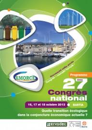 16-18 oct. 2013 à Bastia, 27ème Congrès national AMORCE