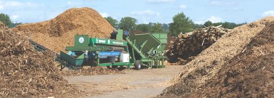 La plateforme Tarvel Biomasse aux portes de Lyon, photo Frédéric Douard