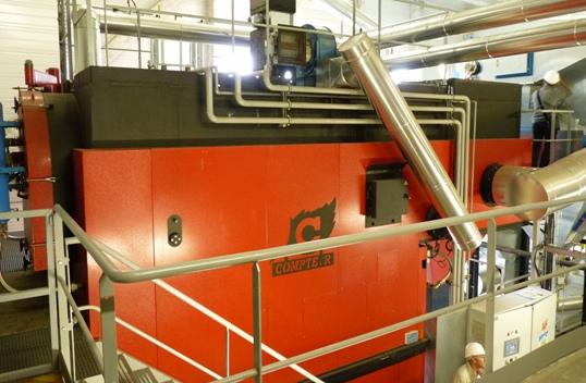 La chaudière Compte R. de 2 MW, photo Frédéric Douard