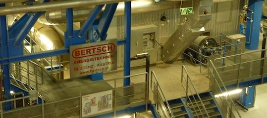 Foyer BERTSCHenergy à lit fluidisé de 33 MWth, photo Frédéric Douard