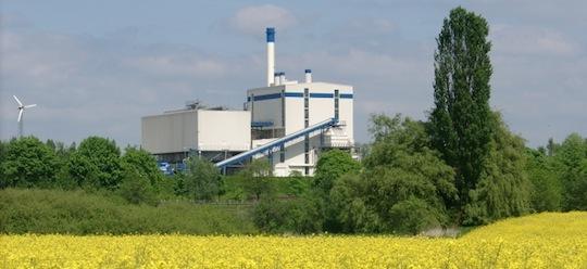 Centrale de cogeneration au bois de Recklinghausen en Allemagne, 16 MWe, photo Okotech GmbH