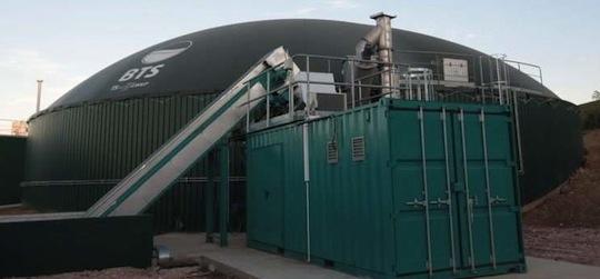 Installation de Nicolini, photo BTS Biogas