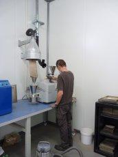 Poste de préparation des échantillons, photo Frédéric Douard