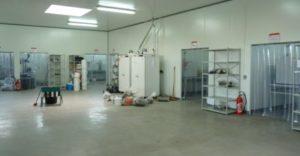 Salle de réception des solides dans les nouveaux ateliers, photo Frédéric Douard