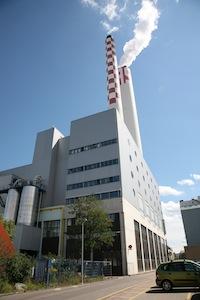 Centrale de cogénération à bois de Bâle, photo IWB