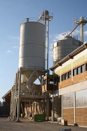 Usine de granulation des Ets Farges à Egletons, photo Piveteau Bois