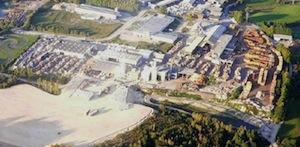 Vue aérienne de la Scierie Farges à Egletons