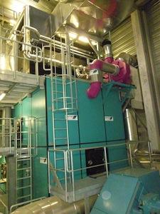 La chaudière vapeur à bois de 13,5 MW, photo Polytechnik