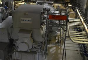 La turbine à vapeur de 16 MWé, photo Frédéric Douard
