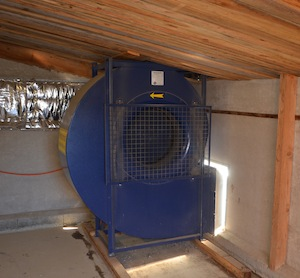 Le ventilateur Lauber, photo Frédéric Douard