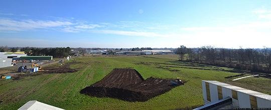 Les tous premiers travaux de terrassement du projet Méthalandes en février 2014