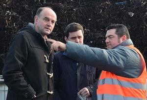 Ludovic Arnoult de SOMTP en train de conseiller Quentin Hochedé au centre et Francis Tardieu de Agriopale, photo Frédéric Douard
