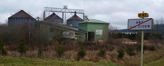 La plus ancienne usine de granulation de bois en France encore en activité, aujourd'hui SOFAG, photo Frédéric Douard
