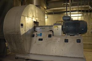 Ventilateur Scheuch pour le lit fluidisé, photo Frédéric Douard