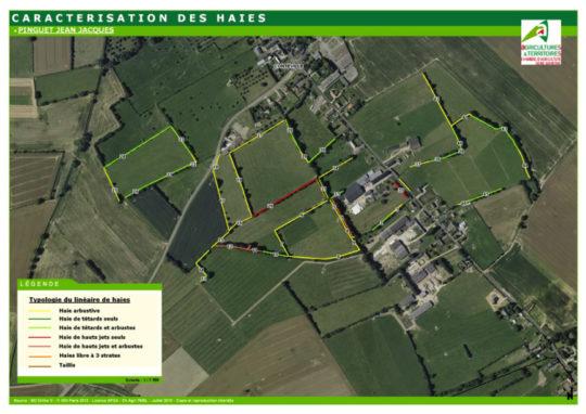 Plan de caractérisation des haies, document Chambre d'agriculture de l'Eure - Cliquer pour agrandir