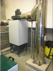 Le filtre à particules de la chaufferie de Saint Pierre d'Aurillac