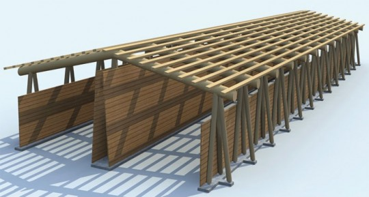 Dessin d'architecte de la structure