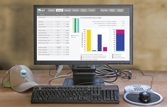 Ecran du logiciel dinaMetan