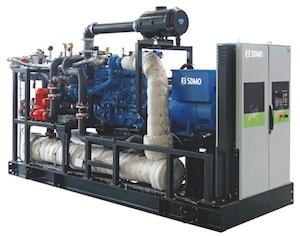 Groupe de cogénération biogaz SDMO