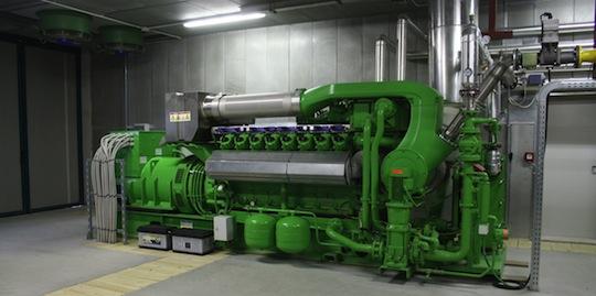 Groupe de cogénération BTS Biogas